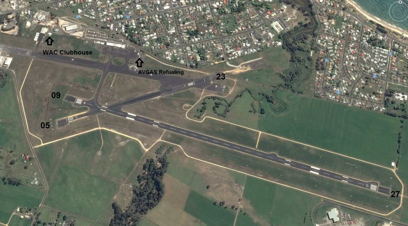Google Earth Airport Layout